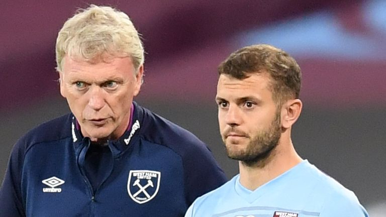 Wilshere says he never fell out with David Moyes
