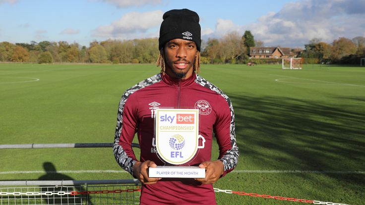 Brentford striker Ivan Toney is the Sky Bet Championship Player of the Month for October