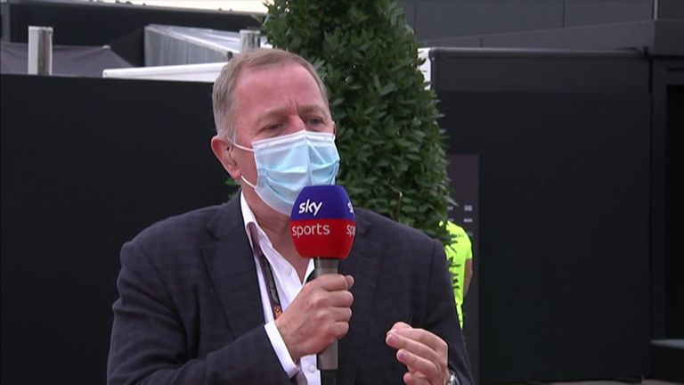 Sky F1's Martin Brundle praised Lewis Hamilton for finding grip on his tyres that others couldn't as the Brit equalled Michael Schumacher's record of seven world titles