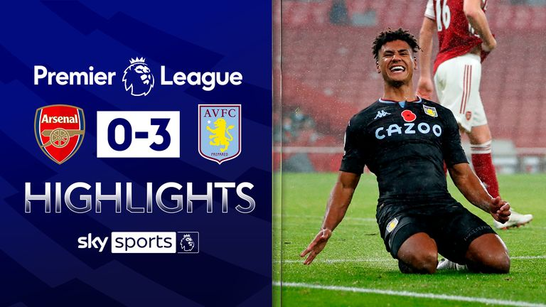 FREE TO WATCH: Highlights from Aston Villa's 3-0 win over Arsenal