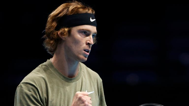 Andrey Rublev signed off from his maiden ATP Finals in style by beating Dominic Thiem