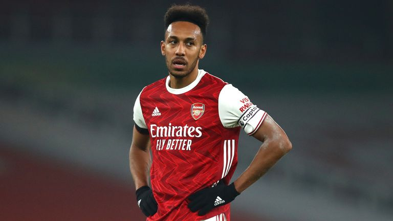 Pierre-Emerick Aubameyang cut a frustrated figure against Wolves