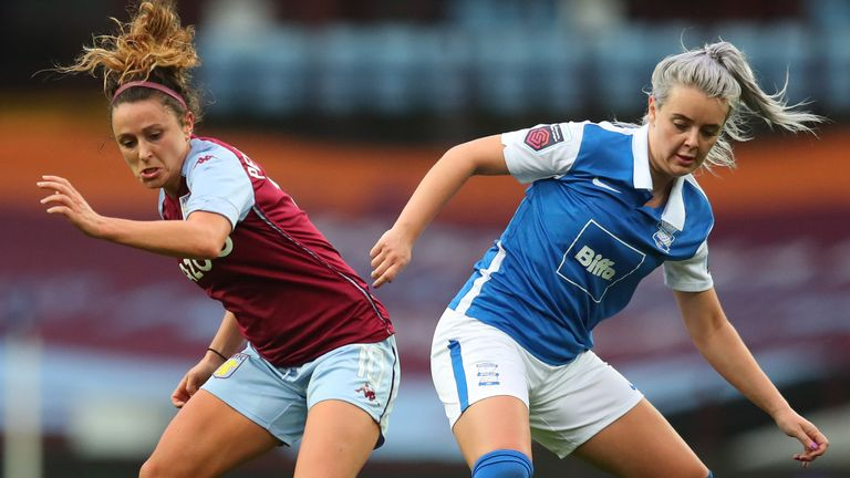 The WSL teams were playing the derby at Villa Park for the first time
