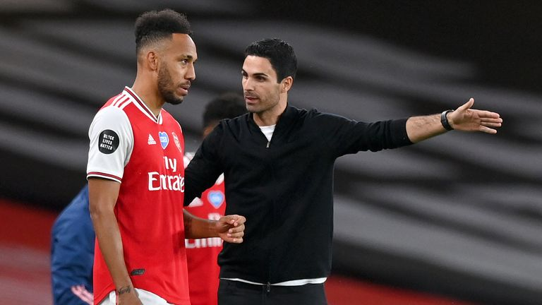 Aubameyang and Arteta (Last season)