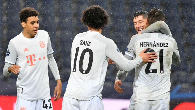Bayern Munich defeated Red Bull Salzburg 6-2 and scored 14 wins in a row