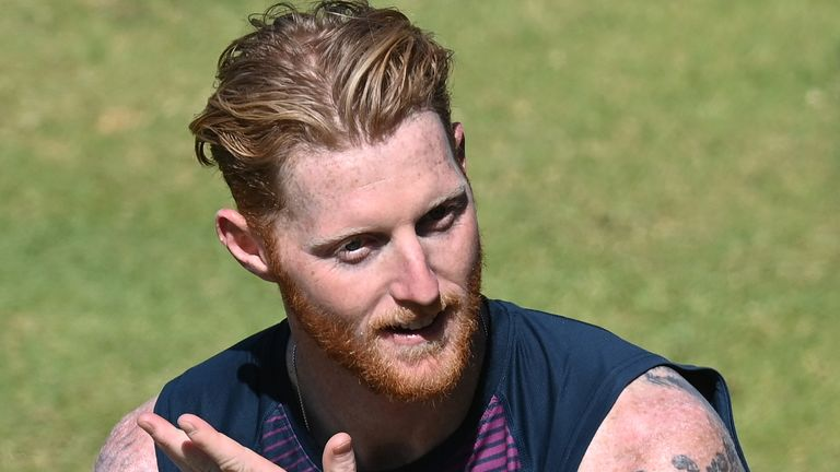 England's Ben Stokes takes a breather during a net Session at Newlands Stadium