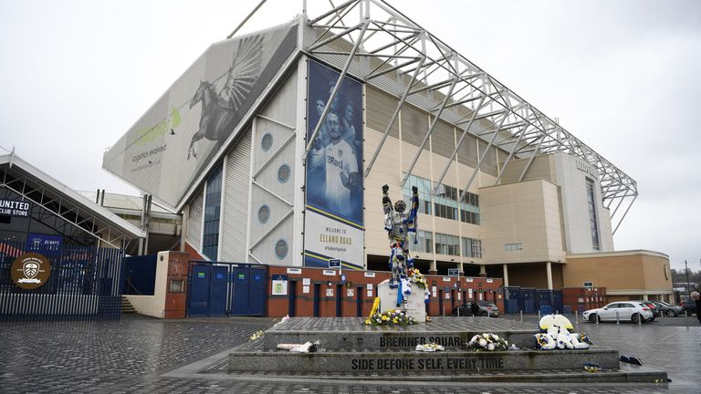 Charlton joins the likes of Billy Bremner, whose statue stands outside the ground, in being honoured by Leeds