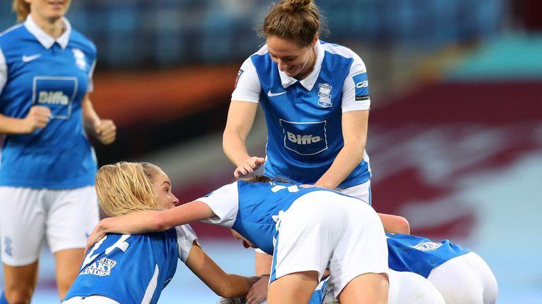 Birmingham celebrate Claudia Walker's winning goal
