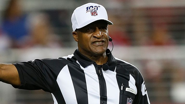 Referee Jerome Boger will lead an all-black officiating team for the first time in NFL history on Sunday