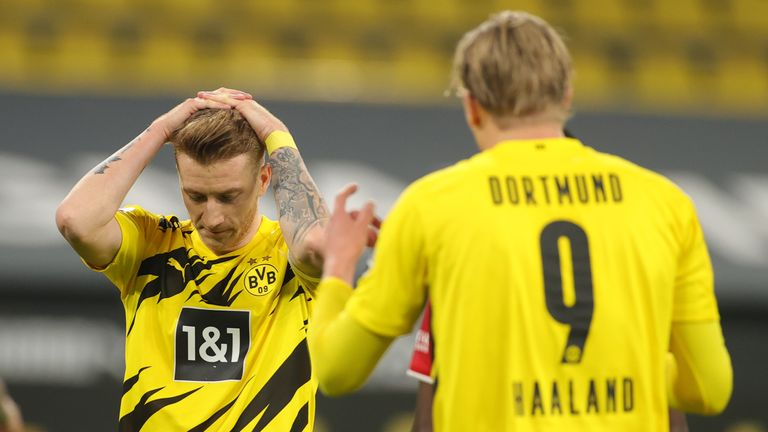 Marco Reus wasted one of a number of fine Dortmund chances after half-time
