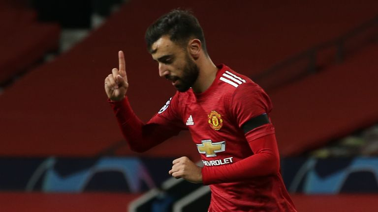 Bruno Fernandes' brilliant goal put Man Utd ahead