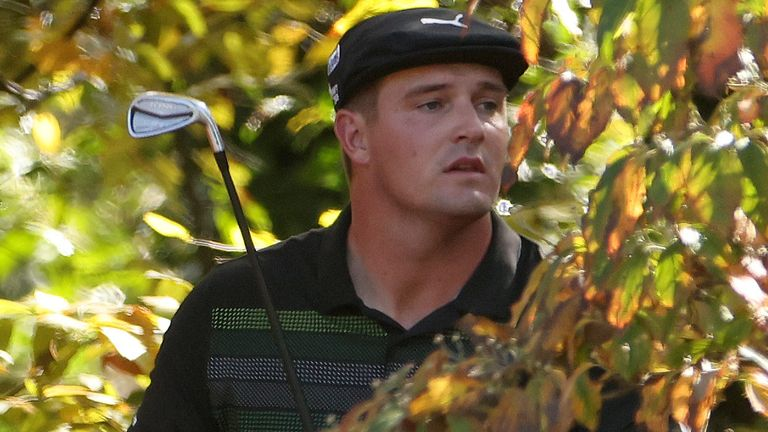 Bryson DeChambeau is five shots off the lead after the opening day of The Masters