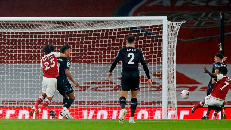 Bukaya Saka inadvertently slides in to score an own goal on Sunday
