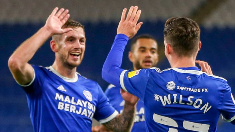 Harry Wilson scored Cardiff's third goal in a 3-0 win over Barnsley