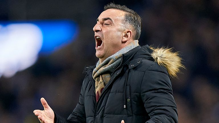 Carlos Carvalhal the manager of Rio Ave FC reacts during the Liga Nos match between FC Porto and Rio Ave FC at Estadio do Dragao on March 07, 2020 in Porto, Portugal