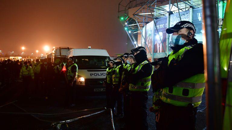 Police at Celtic Park