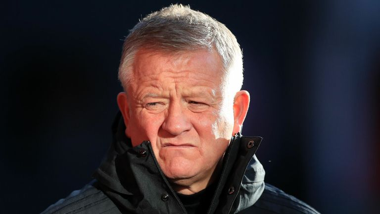 Chris Wilder ahead of the English Premier League football match between Sheffield United and West Ham United at Bramall Lane in Sheffield, northern England on November 22, 2020
