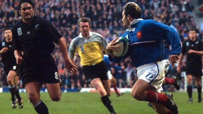 Christophe Dominici scored a try in France's sensational comeback win against the All Blacks in the semi-final of the 1999 Rugby World Cup