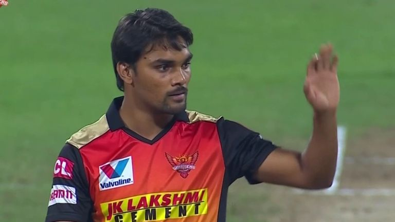 Sandeep Sharma took three wickets for Sunrisers Hyderabad as they clinched a play-off place by beating Mumbai Indians