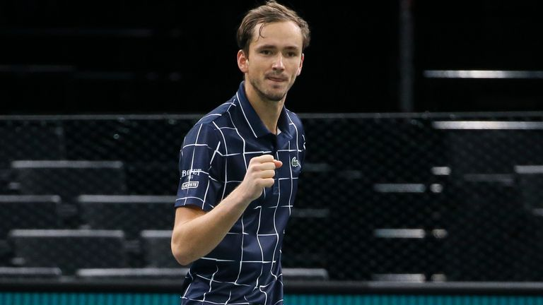 Daniil Medvedev arrived in Paris having lost five of his eight previous matches but he is now in Sunday's final of the Masters 1000 event