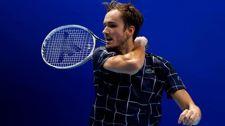 Medvedev will face world No 1 Novak Djokovic on Wednesday