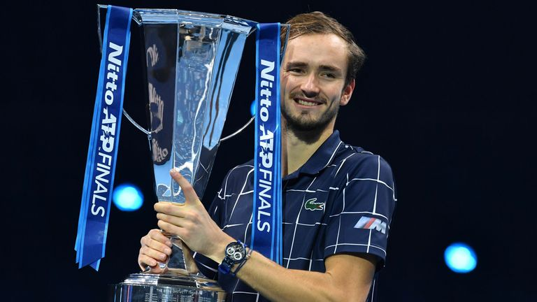 Daniil Medvedev defeated Dominic Thiem to win the ATP Finals title in London