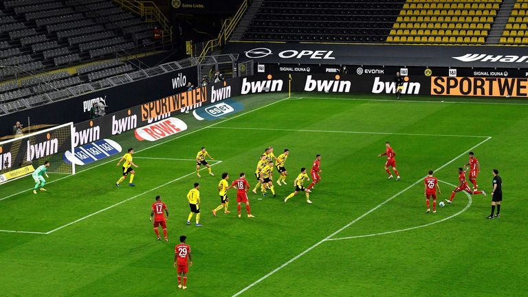 David Alaba's deflected effort after a well-worked free-kick brought Bayern level before half-time