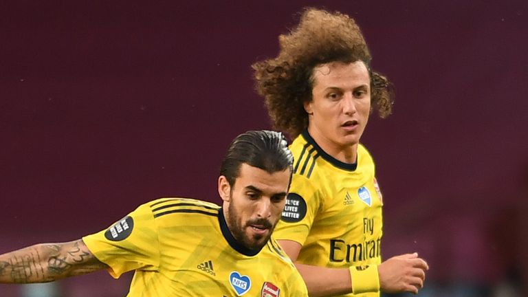 Arsenal's Dani Ceballos and David Luiz were involved in a training ground scuffle during the recent international break