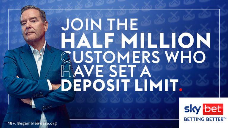 Deposit limit half a mil