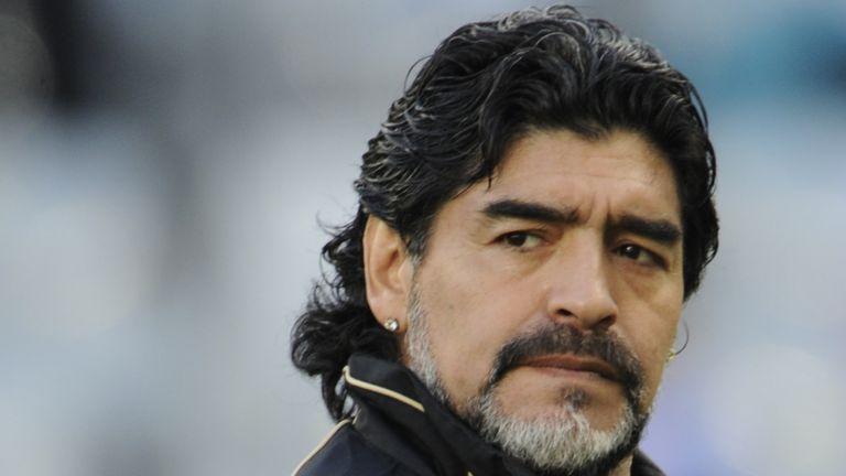 Diego Maradona in 2010