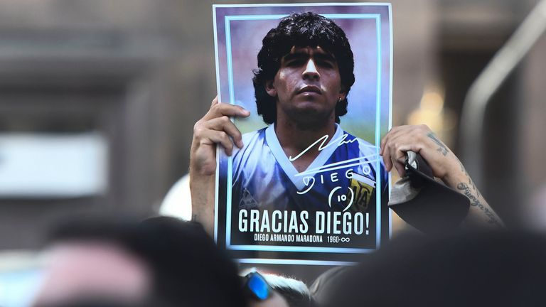 Diego Maradona's death has prompted an outpouring of tributes