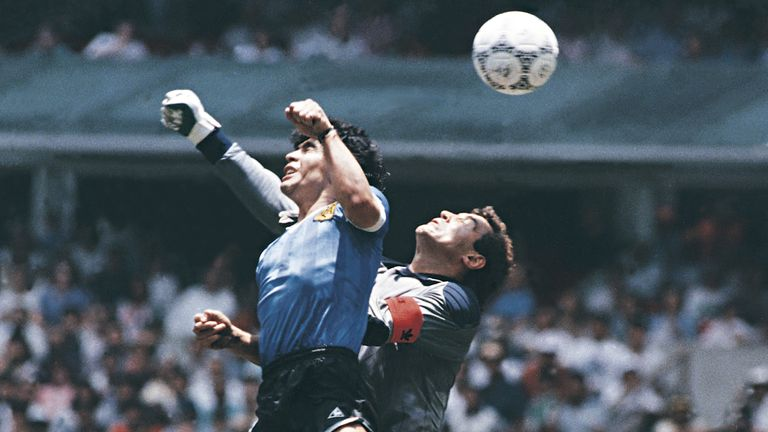 Maradona's Hand of God goals vs England