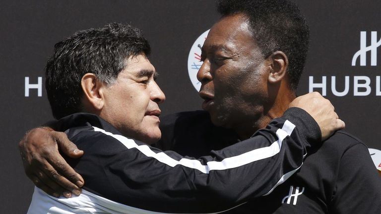 Diego Maradona and Pele are the selection of many people as the two greatest footballers of all time