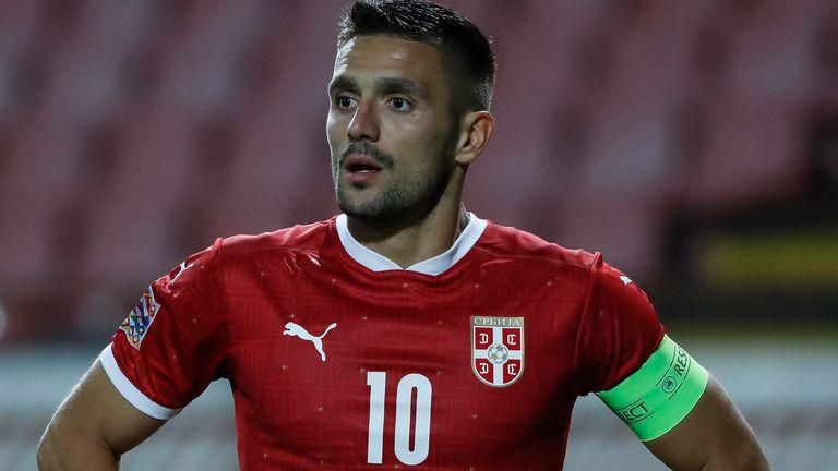 Serbia forward Dusan Tadic