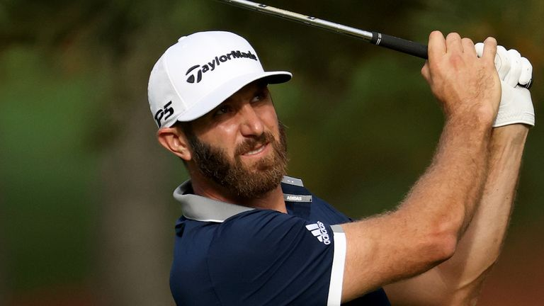 Dustin Johnson is one of four players tied for the lead