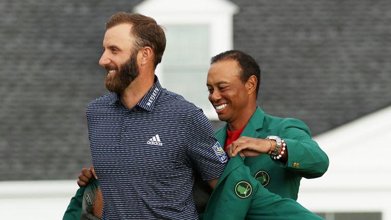 Masters champion Dustin Johnson draws Tiger Woods comparison | Golf News |  Sky Sports