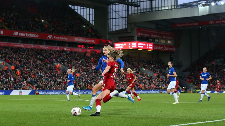 Liverpool Women v Everton at Anfield