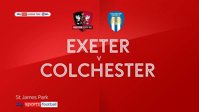 Exeter v Colchester badge