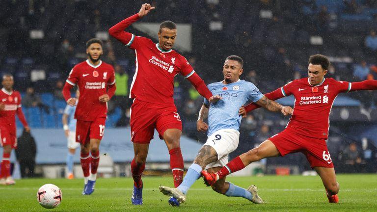 Gabriel Jesus equalises for Man City