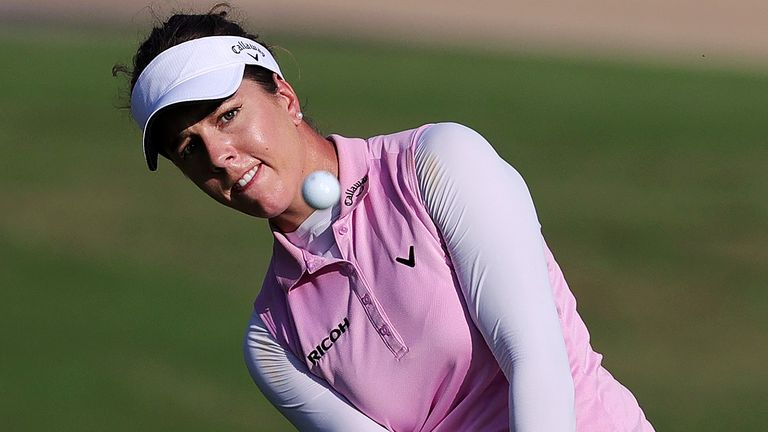 Georgia Hall lost in a play-off to Emily Pedersen in the Saudi Ladies International on Sunday