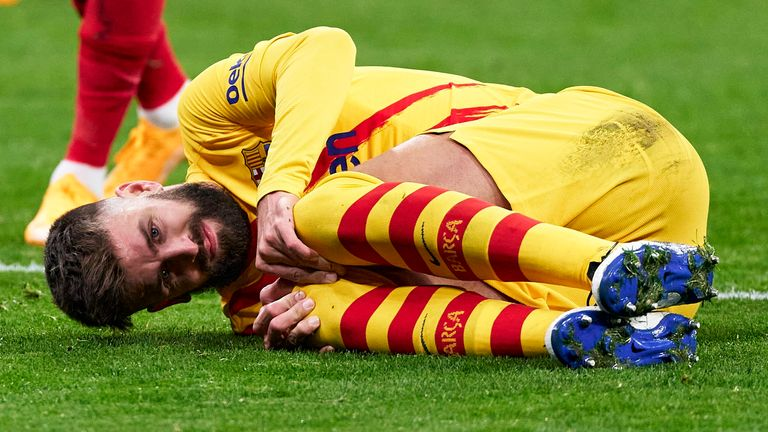 Gerard Pique sustained a partial injury to the anterior crucial ligament