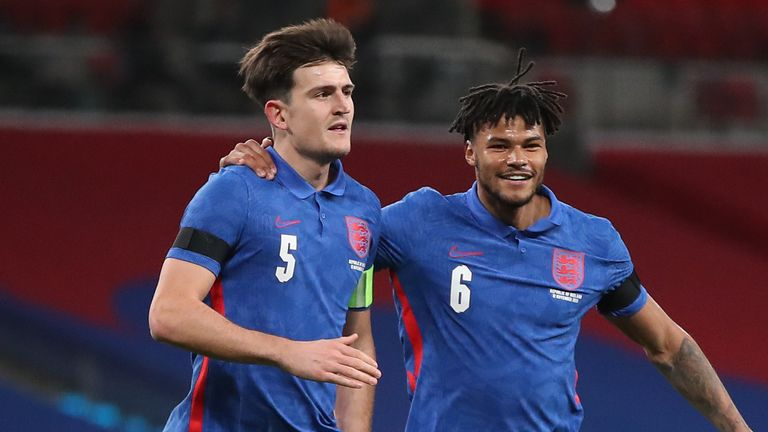 Harry Maguire was on target for England in the victory over Republic of Ireland
