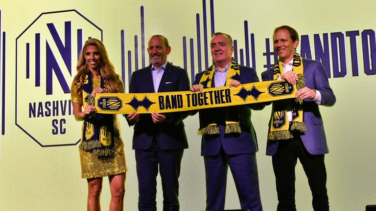 Nashville expansion into MLS celebrated by Don Garber and Ian Ayre (Pic: USA Today/MLS)