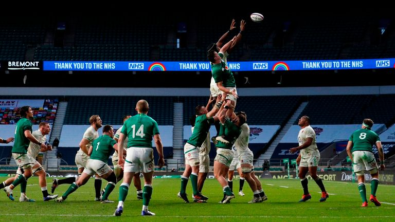 The lineout and breakdown proved key battlegrounds in Saturday's Test, with Ireland second best by a considerable margin in both