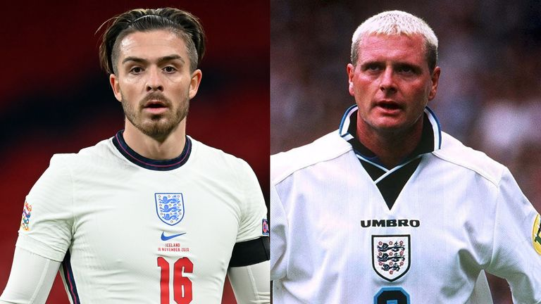 Jack Grealish's recent performances for England have been compared to those of Paul Gascoigne