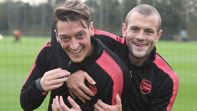 Jack Wilshere played alongside Mesut Ozil for five seasons at Arsenal