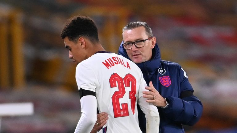 Musiala made his first start for Aidy Boothroyd's England U21s on Tuesday