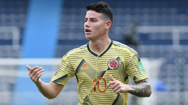 James Rodriguez was part of the Colombia team beaten 3-0 by Uruguay in their World Cup qualifier last week