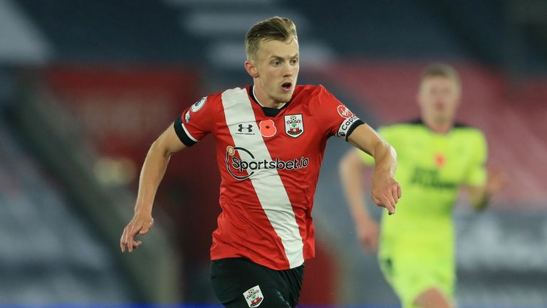 James Ward-Prowse controlled the midfield for Southampton
