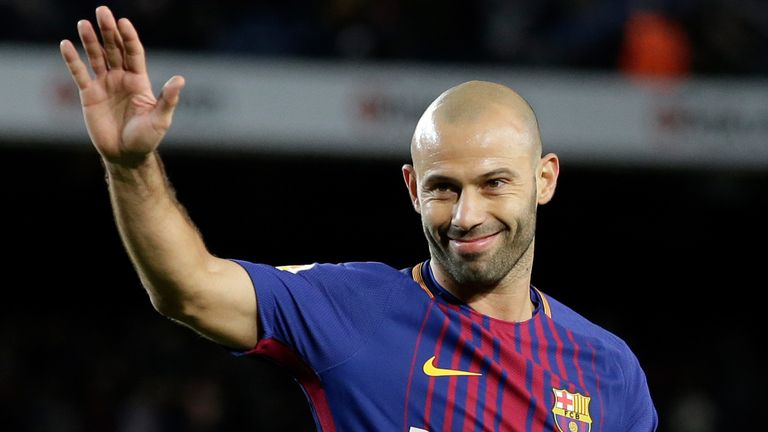 Javier Mascherano: Former Liverpool and Barcelona midfielder retires |  Football News | Sky Sports